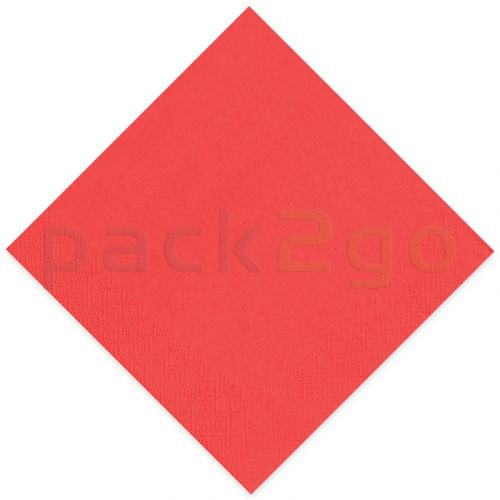 Tissue-Servietten GOURMET, 33x33 1/4 Falz, 3-lagig - kirschrot - Zellstoffservietten farbige
