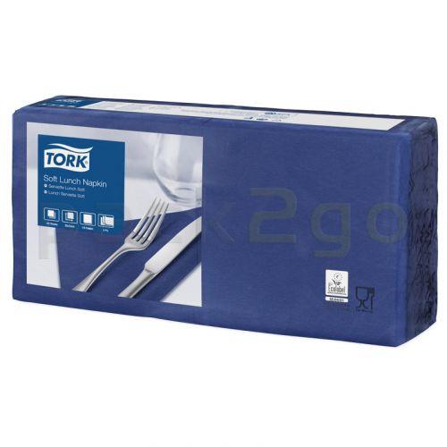 Tork Advanced Tissue-Servietten,33x33 1/4,3-lagig - dunkelblau/ozeanblau - Zellstoffservietten farbige (477412)