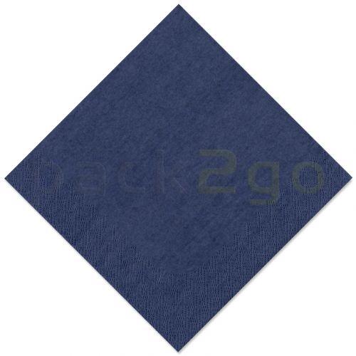 Tissue-servetten GOURMET, 33x33 1/4 vouw, 3-laags - celstofservetten - donkerblauw
