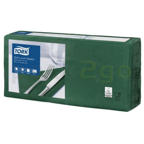Tork Advanced Tissue-Servietten,33x33 1/4,3-lagig - moosgrün - Zellstoffservietten farbige (477413)