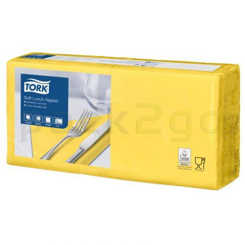 Tork Advanced tissue-servetten, 33x33 1/4, 3-laags, celstofservetten - geel