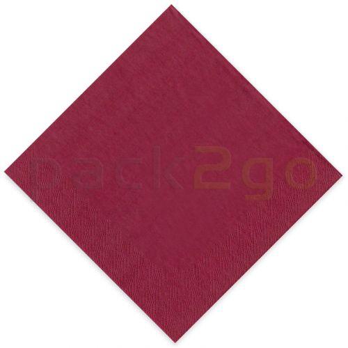 Tissue-servetten GOURMET, 33x33 1/4 vouw, 3-laags - celstofservetten - bordeaux