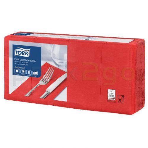 Tork Advanced Tissue-Servietten 477883, 33x33 1/8,3-lagig - kirschrot - Zellstoffservietten farbige - RESTPOSTEN -