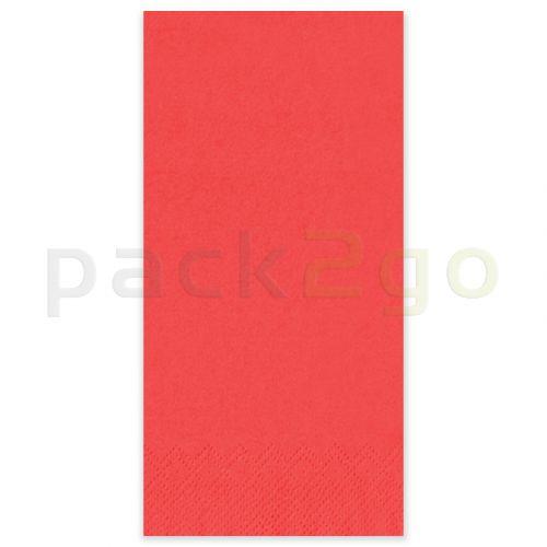 Tissue-servetten GOURMET, 33x33 1/8 vouw, 3-laags - celstofservetten - rood