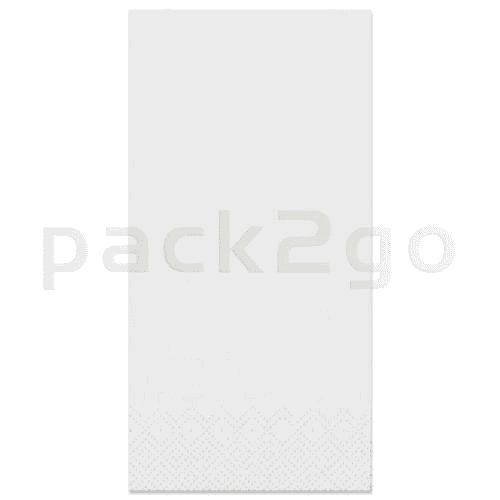 Tissue-Servietten GOURMET, 40x40 1/8 Falz, 2-lagig - weiß - Zellstoffservietten