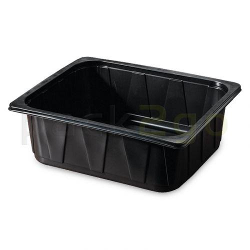 PP-Schale Gastronorm 325x265mm (1/2GN) von Duni, schwarz - 6300ml # 115544