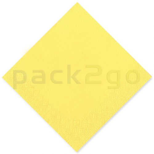 Tissue-servetten GOURMET, 40x40 1/4 vouw, 3-laags - celstofservetten - geel