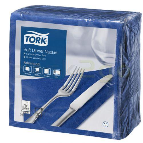 Tork Advanced tissue-servetten, 40x40 1/4, 3-laags, celstofservetten - donkerblauw