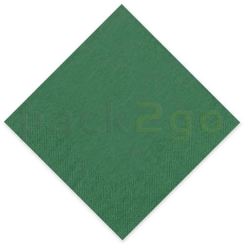 Tissue-servetten GOURMET, 40x40 1/4 vouw, 3-laags - celstofservetten - donkergroen