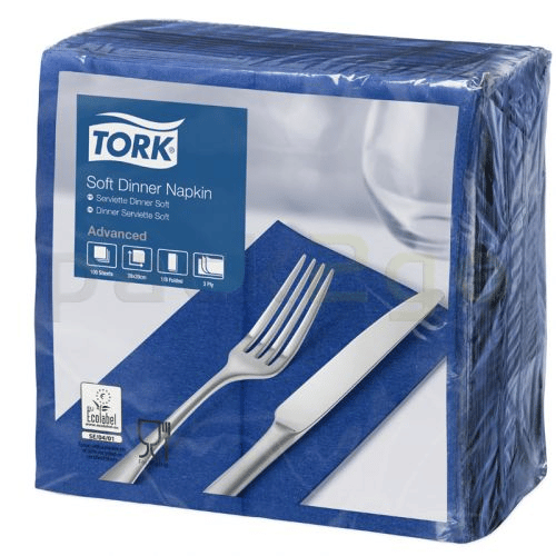 Tork Advanced tissue-servetten,  40x40 1/8, 3-laags, celstofservetten - donkerblauw