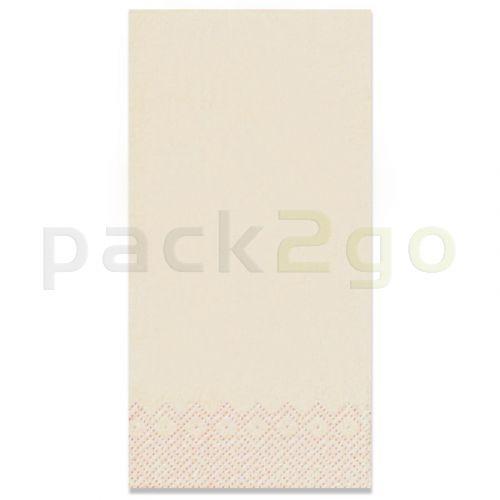 Tissue-Servietten GOURMET, 40x40 1/8 Falz, 3-lagig - champagner - Zellstoffservietten farbige