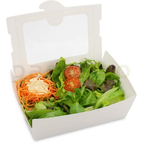 BioPak Foodcase - snackbox met venster, gecoat, wit - 1500ml