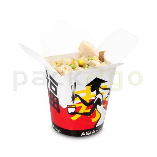 Asia Faltbox ''Asia Grabbers'' SmartServ-Box - mit Asia Motiv - 16oz/500ml