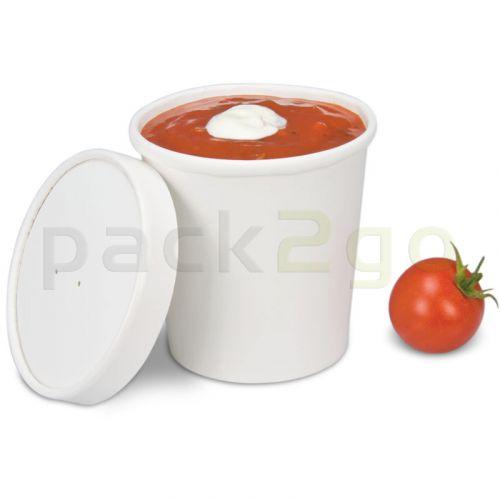 Soup To Go-Container, extrastarker Pappbecher mit Dampfdeckel für Suppenbars - 16oz/400ml