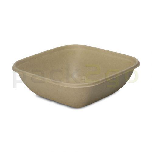 Schalen van bagasse, vierkant (composteerbaar),