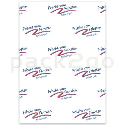 edelpakpapier, inpakpapier voor versproducten, 1/4 vel met neutrale opdruk