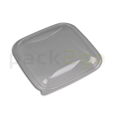 Domdeckel eckig transparent - zur Salatschale 160x160mm