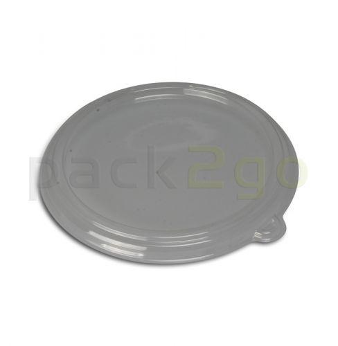 Deckel PET für Schale aus Bagasse, rund,
