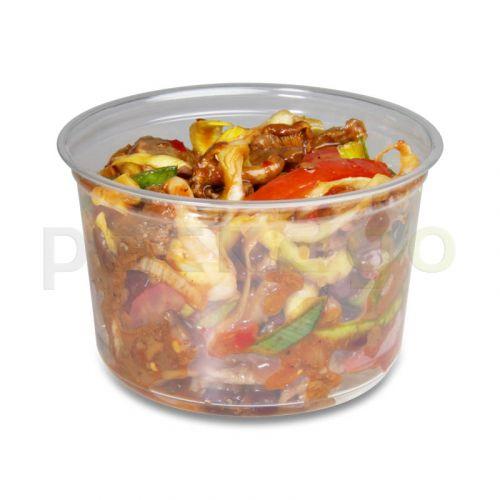 Deli Gourmet Container, exklusiver, glasklarer US-Feinkostbecher - 16oz, 400ml