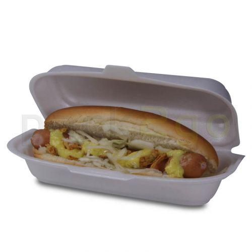 Hot-Dog-Box, geschäumtes Polystyrol - 20x8x6cm