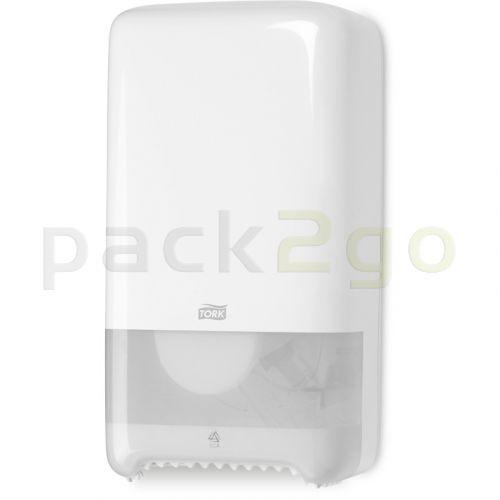 TORK Doppelrollenspender für Toilettenpapier T6 Midi Rolle, weiß