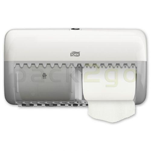 TORK Doppelrollenspender für Toilettenpapier T4 Kleinrollen, weiß