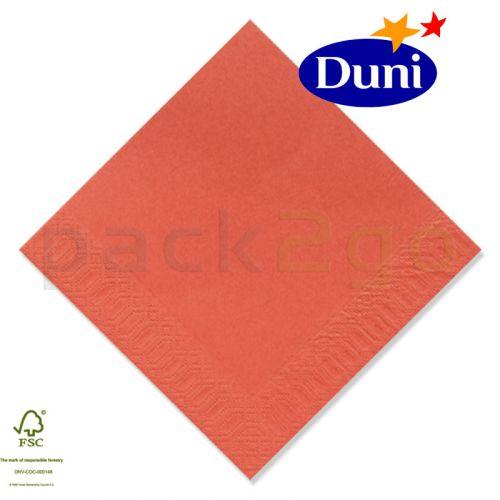 Duni Zelltuch-Servietten 24x24cm - Mandarin (Cocktailservietten Dunicel-Servietten, Tissue, 3-lagig) # 168404