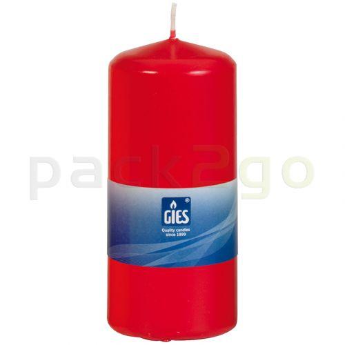 Kaarsen (GIES) 13cm 58mm rood, Ø / - horeca