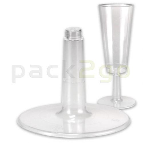 Steckfuß zum Stecken für Einweg-Party-Sektglas 0,1L glasklar - nur Fuß
