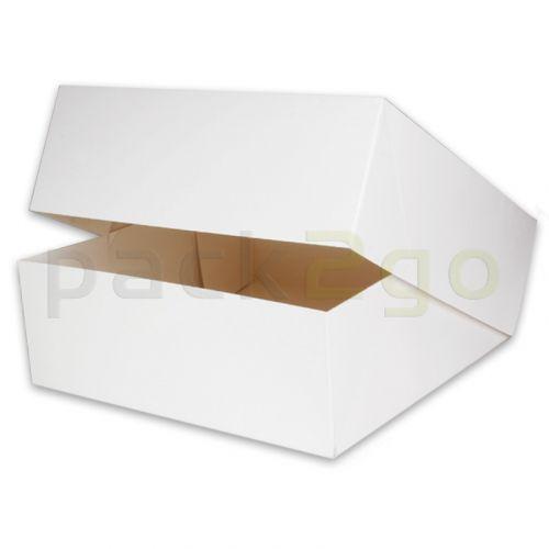 Taartdoos 32 x 32 x 11 cm wit, verpakking voor taarten, gebak