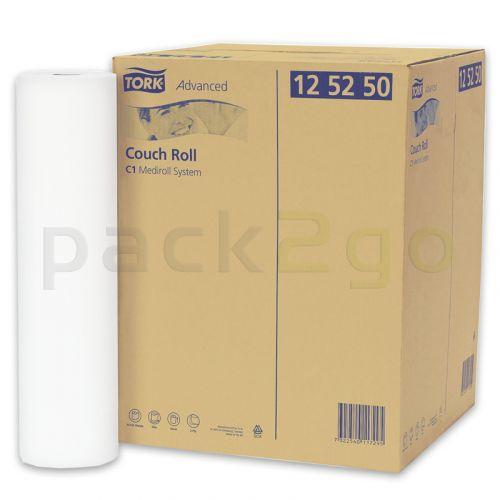TORK-C1 Advanced Liegenabdeckung Medirollen 125250, 2-lagiges Tissue-Papier 50x38cm, 50m Rolle