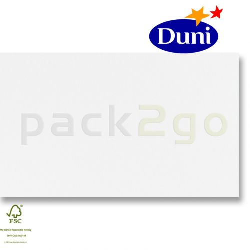 Dunilin-tête-à-têtes 84x84cm - wit (airlaid tafelkleed, textiel karakter) # 322010
