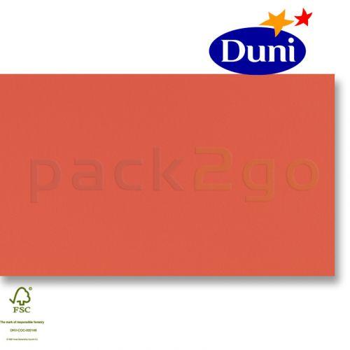 Dunilin-tête-à-têtes 84x84cm - terracotta (airlaid tafelkleed, textiel karakter) # 180490