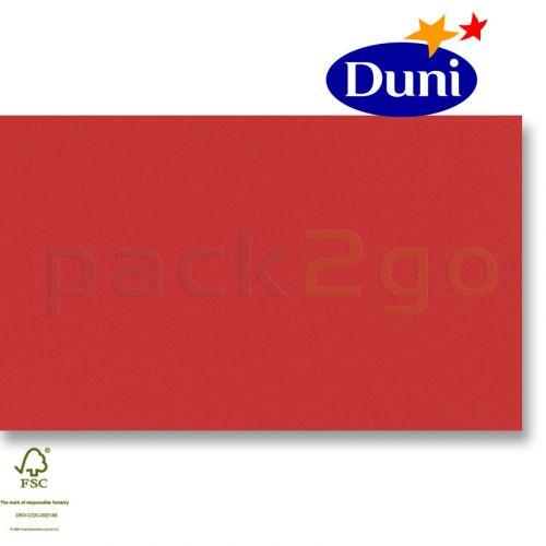 Dunilin-tête-à-têtes 84x84cm - rood (airlaid tafelkleed, textiel karakter) # 322102