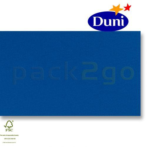 Dunilin-tête-à-têtes 84x84cm - donkerblauw (airlaid tafelkleed, textiel karakter) # 322959