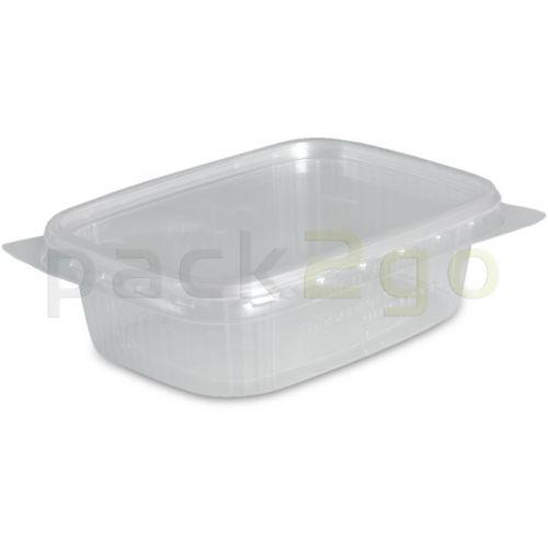 Delicatessenbeker, verpakkingsbeker met deksel, doorzichtig, rechthoekig (combi-pak) - 125ml