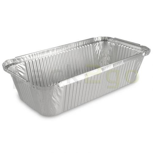 Aluminium bakjes - rechthoekig 221x133, 750ml, aluminium bakjes voor menu's