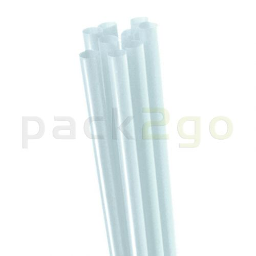 Jumbo-Trinkhalme - dicker Smoothie-Strohhalm transparent, starr - 25cm, 8mm