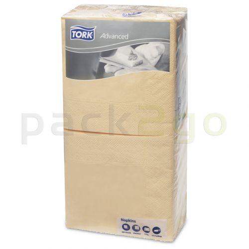 Tork Advanced Tissue-Servietten, 24x24 1/4, 2-lagig - ivory / champagner - Zellstoffservietten farbige (477828)