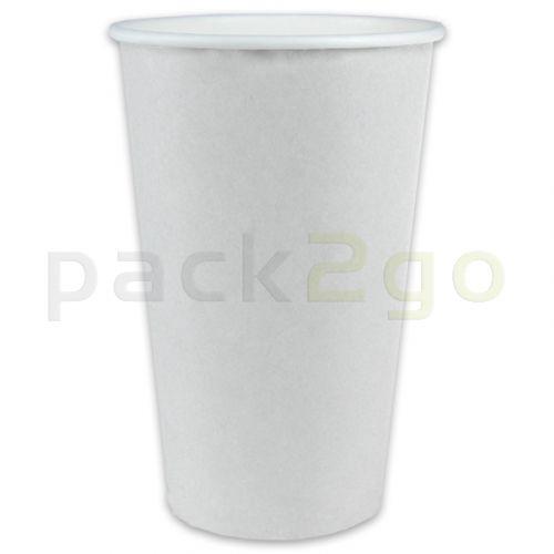 Kaffeebecher Coffee to go, Heißgetränke-Pappbecher weiß - 20oz, 500ml