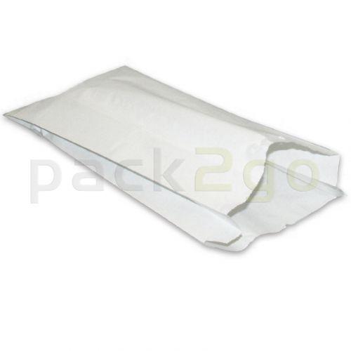 Gevouwen zak 418, wit cellulose papier, vetdicht