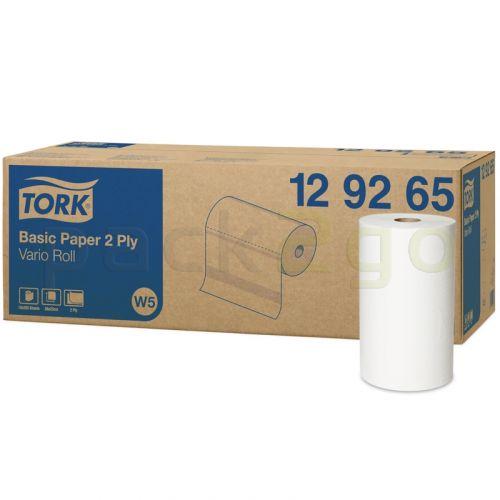 TORK Universal poetsdoek 320 poetsrollen hoogwit, W5-systeem, poetsrol 2-laags 23x28cm, kleine rol