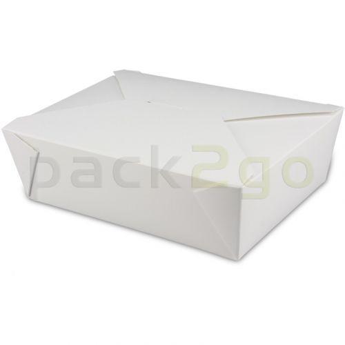 BioPak Foodcase - snackbox met vouwdeksel, gecoat, wit - 2000ml