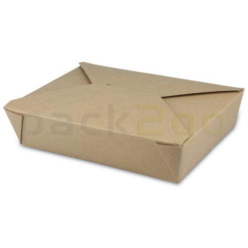 BioPak Foodcase - snackbox met vouwdeksel, gecoat, bruin - 1500ml