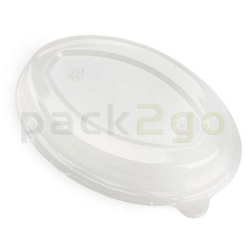 Deckel rPET für Schale aus Bagasse, oval,
