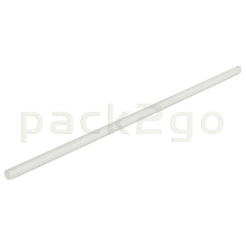 Kompostierbare Trinkhalme aus PLA, starr -  24cm, Ø6mm - weiß