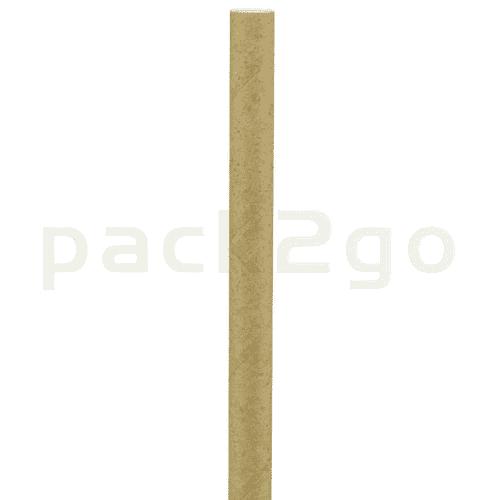 Kompostierbare Bio-Trinkhalme, Strohhalm aus Papier, starr - 20cm, Ø6mm - natur