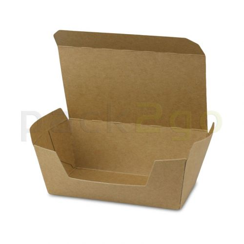 Kompostierbare Snackbox mit Klappdeckel