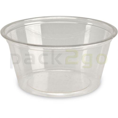 Kompostierbare Dressingbecher aus PLA, transparente Saucenbecher, rund - 90ml