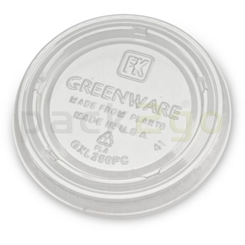 Kompostierbarer Deckel aus PLA zu Dressingbecher 60ml -  Ø62mm